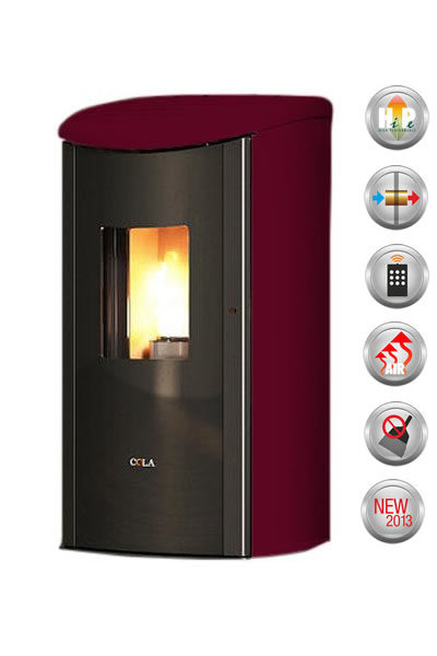 STUFA A PELLET DIAMOND 9,29 KW BORDEAUX
