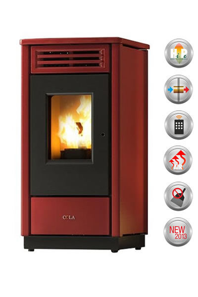 STUFA A PELLET FREE HR 8,27 KW BORDEAUX